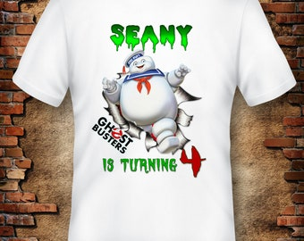 Stay Puft Birthday Shirt, Ghostbusters Iron On Transfer Image, Ghostbusters T-Shirt Transfer, Ghostbusters Stay Puft , Ghostbusters party