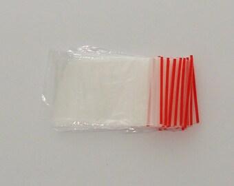 100 bags plastic 4x6cm zipper Zip - code: SP 517