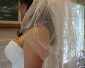 Marilyn, Elbow Length Veil, Bubble Veil, Made-to-Order Veil, Custom-Made Veil