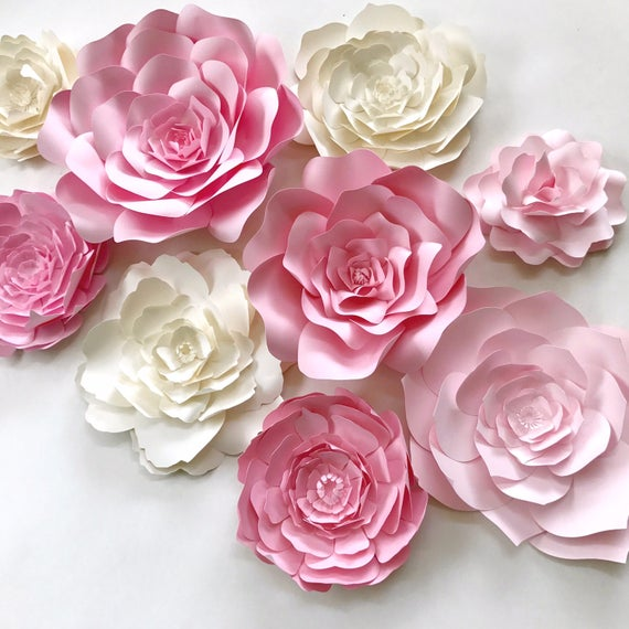 Pink paper flower wall decor large paper flower backdrop pink paper flower wall decor large paper flower backdrop nursery wall art paper flower backdrop girls room decor nursery decor mightylinksfo Image collections