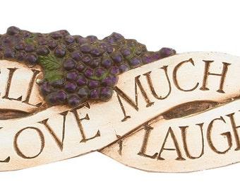 Live Well Love Much Laugh Often Door Topper