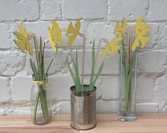 Daffodil flowers , mum gift, Mothers gift, Anniversary present, Springtime sunny Daffodils, Spring flowers, Birthday gift, Gardeners gift,