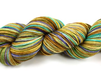 Summer Vacation--hand dyed sock yarn, 2ply merino and nylon, (400yds/100gm)