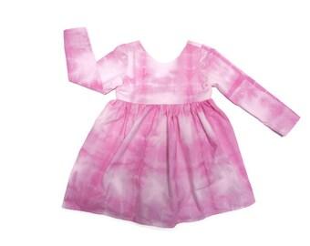 Imogen Dress - Baby, Toddler, Child, Girl, Shibori, Tie Dye, Pink, Long Sleeve, Short Sleeve, Boho, Modern