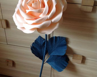 Giant Paper Flower-Stem Paper Flowers-Lagre paper Flowers-Stand with Flowers-Flowers for stems-Stemed Paper Flowers-Giant Standing Flowers