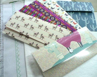 Lama, Cactus, portefeuilles, porte monnaie femme, ensemble-cadeau, enveloppes, bloc-notes, cadeau de Graduation, professeur cadeau, cadeau pour maman