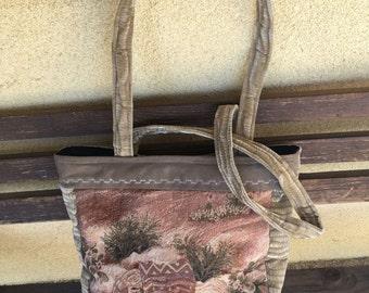 Tapestry Bag, Tapestry Tote, Southwestern Tote, Southwestern Bag, Tapestry Shopping Bag, Shopping Tote, Shoulder Bag, Natural Colors Tote