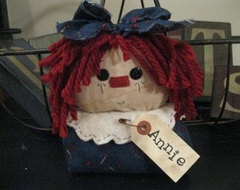 Raggedy Ann Shelf Sitter, Raggedy Ann Doll, Raggedy Doll, Raggedy Ann, Annie, Annie Doll, Prim Doll, Whimsical Doll, Raggedy Doll Collector