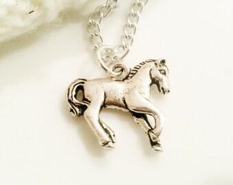 Horse Necklace Teen Girl Tween Girl Jewelry Gift  Silver Charm Women Jewelry