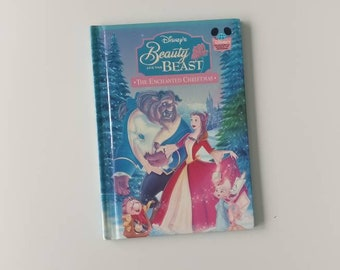 Beauty and The Beast Enchanted Christmas Notebook - Handmade Disney Notebook
