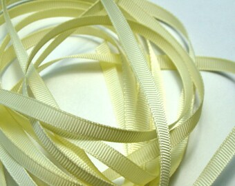 "1/4"" Grosgrain Ribbon -  Baby Maize - 10 yards"