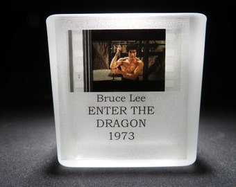 BRUCE LEE - Enter the Dragon - Film Cell - Glass Votive