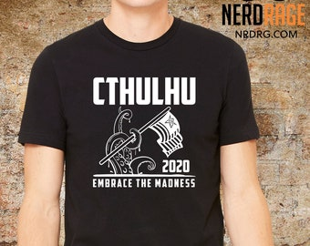 Cthulhu Tshirt, Cthulhu for President, HP Lovecraft Shirt, RPG Gift for Him, Horror Gift for Her, Cthulhu 2020, Funny Personalized Gag Gift