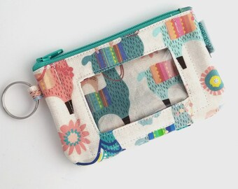 Llama Gifts for Women - Llama Wallet - Student ID Wallet - College Student Gift for Her - Zipper Wallet - Womens Wallet - Cute Wallet