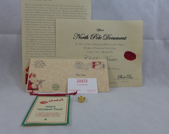 Letter from santa etsy letter from santa personalized nice certifacate a gold colored santa ring magic reindeer food plus a free gift spiritdancerdesigns Choice Image