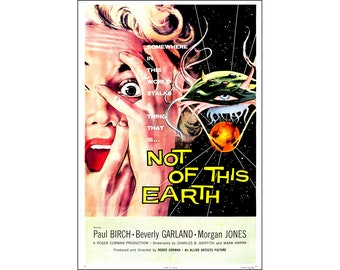Not Of This Earth Movie Poster Print - 1959 - Science Fiction - 1 Sheet Artwork