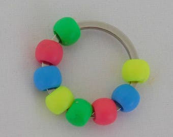 Stainless Steel Split Ring and Beads Fidget Toy, Flip Chain Fidget Toy, Autism, Stim Toy, ADHD, SPD, Sensory, Quiet Fidget, Pocket Fidget,