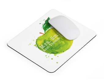 personalized Gift for a teacher Mouse pad, apple for a teacher, teacher appreciation gift