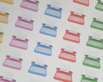 Typewriter Stickers! 54 Stickers! great for Erin Condren, Kikki.K, Filofax, or Plum Paper Planners! (276)