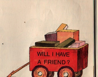 Will I Have a Friend – First Printing + Miriam Cohen + Lillian Hoban + 1967 + Vintage Kids Book