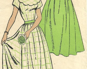 Vintage 50s Sewing Pattern / New York 397 / Dress / Size 15 Bust 33