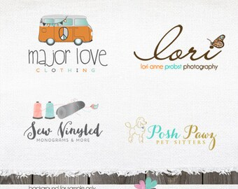 Custom Logo - Custom Logo Design for Photographer - Custom Hand Drawn Photography Shop Business Logo Custom Watermark design