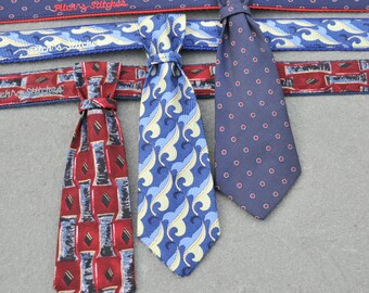 BOTH Doggy Necktie and Collar to Match: Upcycled Necktie Custom Made into Buckle or Martingale Collar for Small, Medium or Large Dog