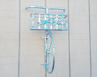 Bicycle Wall Art, Home Decor, Bicycle Planter, Metal Wall Decor, Metal Wall Art, Bicycle Decor, Planter Metal Wall Art, Bicycle Wall Shelf