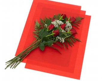 Large tissue flowers etsy 10 large sheets red waxed floral tissue paper for flowers gifts wrapping 24x36 free shipping mightylinksfo