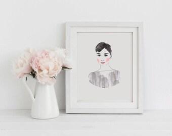 Printable Wall Art Audrey Hepburn instant download