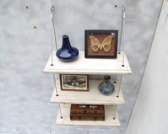 shelving, shabby chic, shelves, reclaimed shelf,  french cottage, beach decor, display shelves