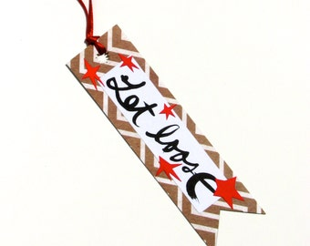 Zig Zags and Stars Let Loose Bookmark