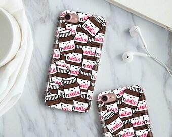 Nutella Phone Case, Nutella case, iPhone 5S, iPhone 6S Plus, iPhone 7 Case, iPhone 8 Plus Case, Samsung Galaxy S8 Case, Samsung Galaxy S7