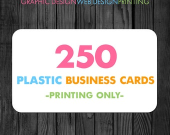Plastic Business Cards, Business Card Printing, 250 Business Cards,  Printed Business Cards, Rounded Business Cards