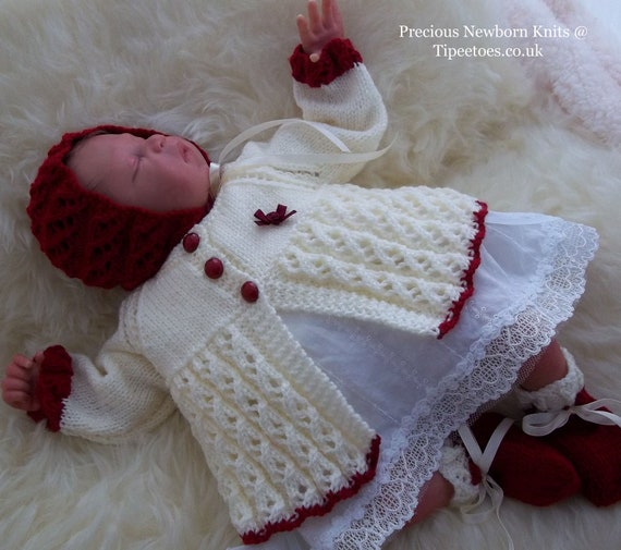 Baby knitting pattern baby girls or reborn dolls sweater set baby knitting pattern baby girls or reborn dolls sweater set download pdf knitting pattern baby sweater hat booties from preciousnewbornknits on dt1010fo
