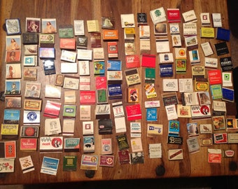 140 Empty vintage Match books and Match boxes
