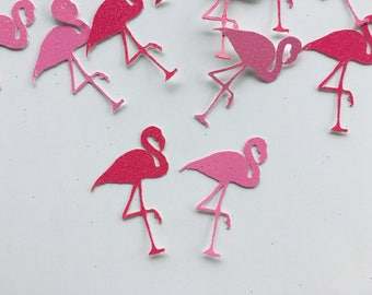 Flamingo Confetti - flamingo - Confetti - Table Decor  - hot pink - light pink - pink - glitter - tropical party supplies - Summer party