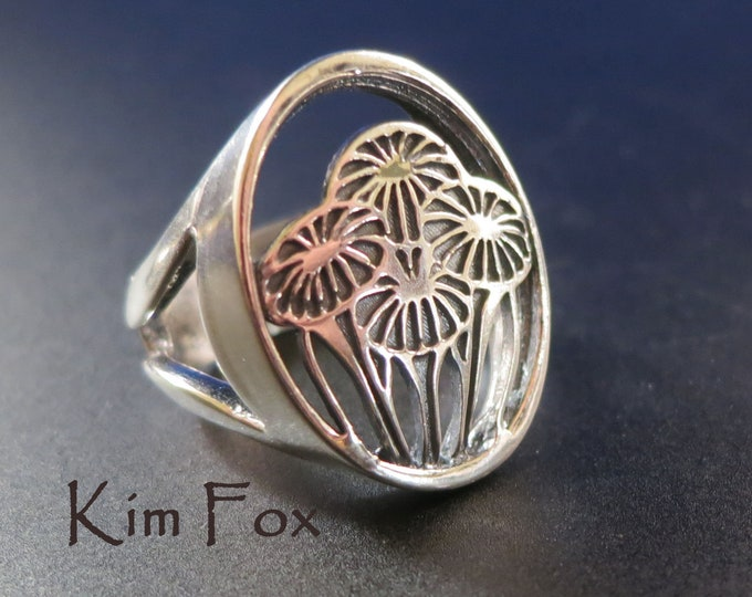 Featured listing image: Gift of Love Ring - bouquet - in silver designed by Kim Fox