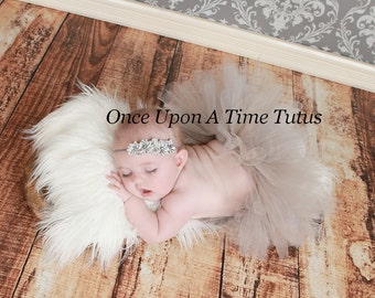 Ready To Ship Gray Tutu - Baby Newborn 6 12 Months Child Girls 3 4 5 6 8 10 12 - Easter Photo Prop, Halloween Costume - Spring Summer