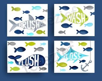 fish bathroom art , fish art prints ,  target fish shower curtain art , pillowfort fish shower curtain art prints, lime green blue gray