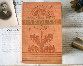 Antique French illustrated Dictionary - Nouveau Petit Larousse Illustré 1956 - Vintage reference book encyclopedia from France