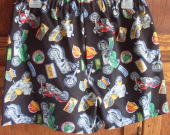 Motorcycle Cotton Boxer Shorts for Boys or Girls Large 25 - 26