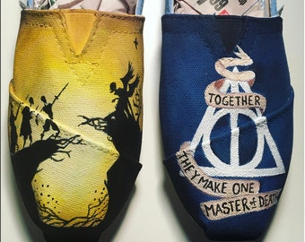 Deathly Hallows Handpainted Toms