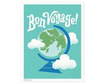 Bon Voyage Illustrated Art Print