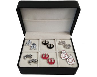 Star Wars Cufflink Gift Set - 6 Pairs with a free gift box