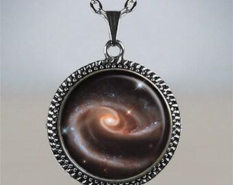 Rose Galaxy necklace, galaxy pendant, star pendant astronomy gift galaxy jewelry astronomy jewelry NASA photo jewelry