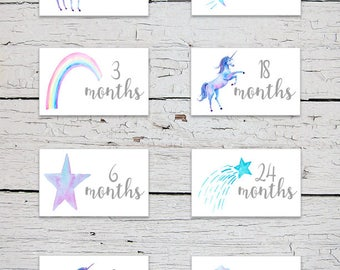 Printable Nursery Drawer Labels | Unicorns and Rainbow Drawer Labels | Unicorn Nursery Decor | Whimsical Nursery Decor | Baby Clothes Labels