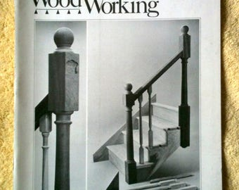 Vintage Fine Woodworking Magazine Sept 1981 No 30 Building Stairs Planemakers Float Carved Signs Carvers Tricks Sharpening Equipment