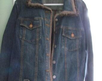 Women's Large Blue Jean Jacket