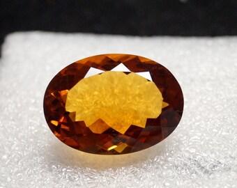 60% OFF Citrine Gemstone - Faceted Gemstone - Citrine Stone - Loose Faceted Gemstone - Citrine Gems 25x18x12 mm 30.35 Cts